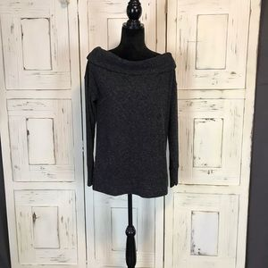 NWT Gap Dark Charcoal / Off the Shoulder Sweater